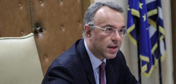 Σταϊκούρας: Δεν χρειαζόμαστε να προσφύγουμε σε δανεισμό σύμφωνα με τα σημερινά δεδομένα