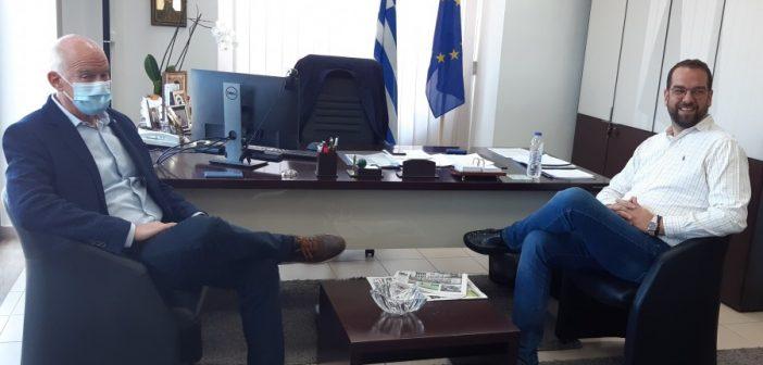 Στον Περιφερειάρχη, Νεκτάριο Φαρμάκη, ο πρώην Πρωθυπουργός και βουλευτής Αχαΐας, Γιώργος Παπανδρέου (ΦΩΤΟ)