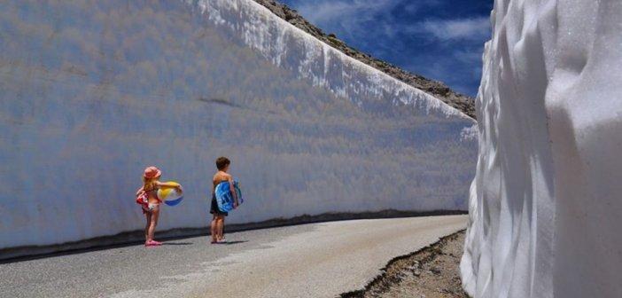 Χιόνια εν μέσω… καύσωνα στην Κρήτη! Η ιστορία της φωτογραφίας που τραβήχτηκε χθες!
