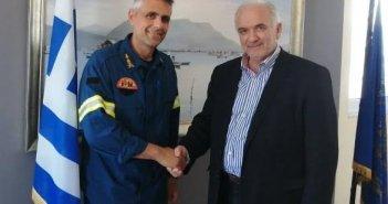 Συνάντηση του Δημάρχου Κώστα Λύρου με τον Διοικητή της Π.Υ. Μεσολογγίου Νικόλαο Παπαθανάση