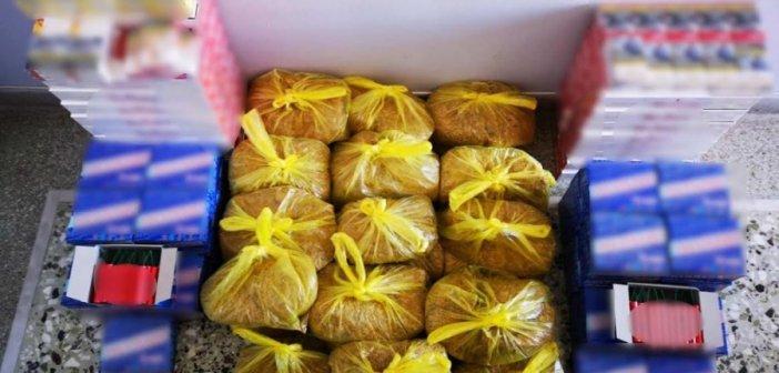 Ευηνοχώρι: Συνελήφθη διακινητής λαθραίων καπνικών προϊόντων – Κατασχέθηκαν 14 κιλά καπνός, 400 πακέτα τσιγάρα και 2.000 κροτίδες!