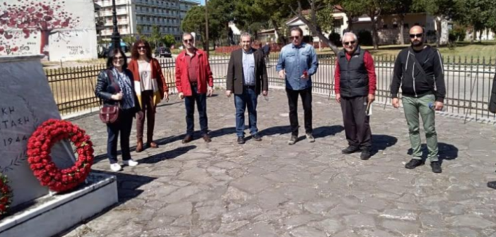 Ο ΣΥΡΙΖΑ Μεσολογγίου τίμησε την επέτειο της Εργατικής Πρωτομαγιάς