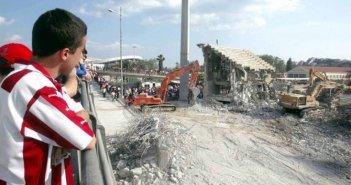 Ολυμπιακός: Σαν σήμερα το 2003 το γκρέμισμα της Θύρας 7