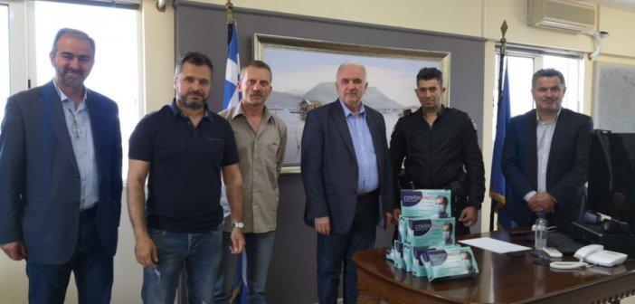 Δήμος Μεσολογγίου: Ευχαριστήριο προς την Τοπική Διοίκηση Αιτωλίας για τη δωρεά μασκών