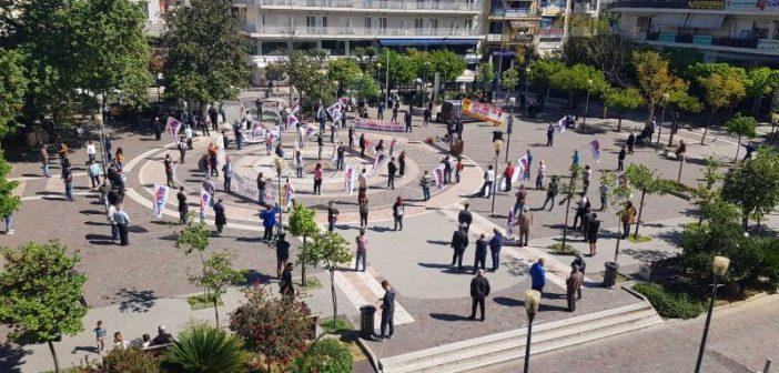 """Πρωτομαγιά: Με """"στρατιωτική"""" πειθαρχία η συγκέντρωση του Eργατικού Κέντρου στο Αγρίνιο"""