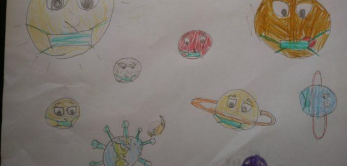 Μεσολόγγι: Η διαστημική άποψη του κορονοϊού στα μάτια ενός 7χρονου