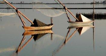 Εικόνες από τη λιμνοθάλασσα του Μεσολογγίου