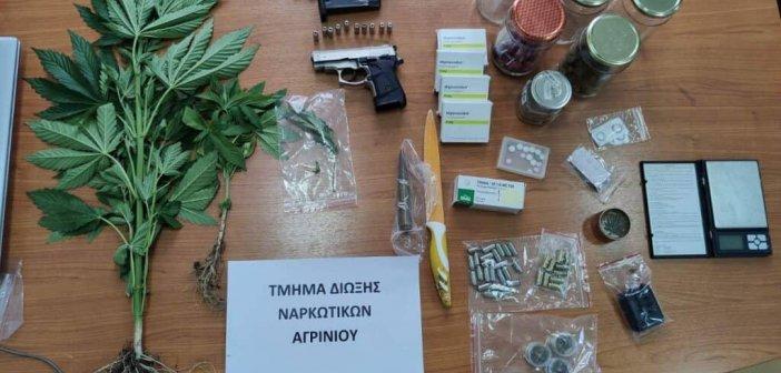 Αγρίνιο: Συνελήφθη 52χρονος στην οικία του από τη Δίωξη Ναρκωτικών για κατοχή ναρκωτικών και όπλων