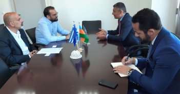 Συνάντηση του Νεκτάριου Φαρμάκη με τον Πρέσβη του Αζερμπαϊτζάν στην Ελλάδα, Anar Huseynov (ΦΩΤΟ)