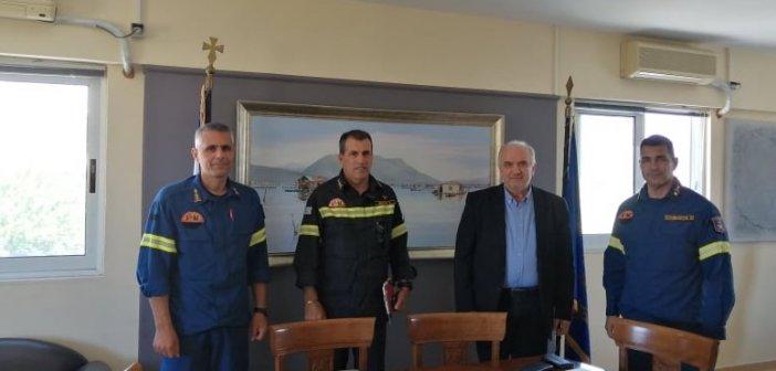 Συνάντηση του Δημάρχου Κώστα Λύρου με τον Περιφερειακό Διοικητή Πυροσβεστικών Υπηρεσιών Δυτικής Ελλάδας Ν. Ρουμελιώτη