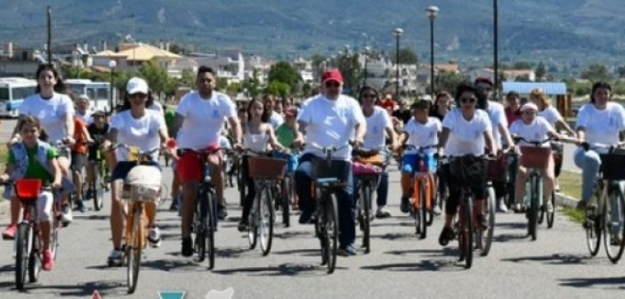 Μεσολόγγι: Πολύ μεγάλη η συμμετοχή στην ποδηλατοβόλτα