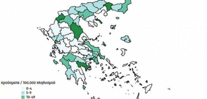 """Ο χάρτης του κορονοϊού στην Ελλάδα: Οι """"λευκές"""" περιοχές και η καμπύλη που """"ίσιωσε"""" – ΑΝΑΛΥΤΙΚΑ ΣΤΟΙΧΕΙΑ"""