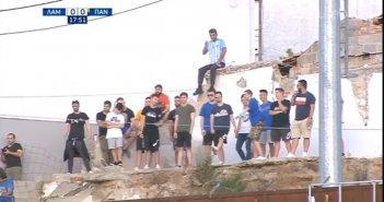 Από την ταράτσα δίπλα στην ομάδα τους οι φίλοι της Λαμίας στον αγώνα με τον Παναιτωλικό (VIDEO)