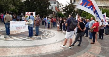 Νέο συλλαλητήριο στο Αγρίνιο από το Εργατικό Κέντρο κατά των απαγορεύσεων στις διαδηλώσεις (ΦΩΤΟ)