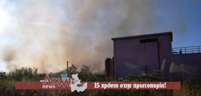 Πυρκαγιά δίπλα από τον βιολογικό Μεσολογγίου (ΔΕΙΤΕ ΦΩΤΟ)