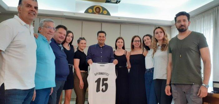 Συνάντηση του Δημάρχου Αγρινίου με τη γυναικεία ομάδα μπάσκετ των Αργοναυτών (ΔΕΙΤΕ ΦΩΤΟ)