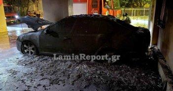 Λαμία: Ανατίναξαν το αυτοκίνητο του πρώην αρχιφύλακα των φυλακών Δομοκού! (ΦΩΤΟ + VIDEO)
