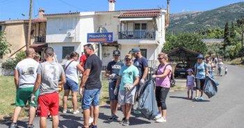 Μαμουλάδα: Οι εθελοντές έβαλαν το χεράκι τους στον ευπρεπισμό του χωριού