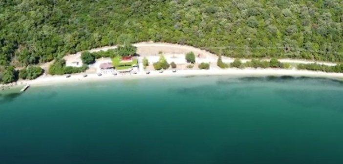 Η παραλία της Παναγιά στη Βόνιτσα… από ψηλά