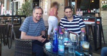 Καφεδάκι στην Αμφιλοχία ο Αντώνης Σαμαράς (ΦΩΤΟ)