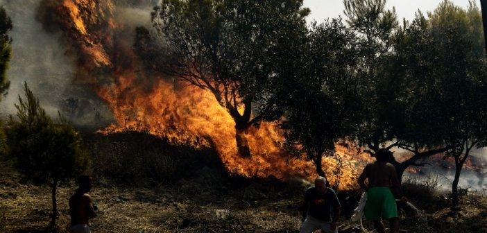 """Στο """"κόκκινο"""" ο κίνδυνος πυρκαγιάς για 5 περιφέρειες την Τετάρτη"""