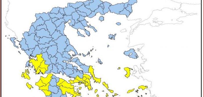 Υψηλός ο κίνδυνος πυρκαγιάς σε Αιτωλοακαρνανία – Δυτική Ελλάδα και αύριο Σάββατο