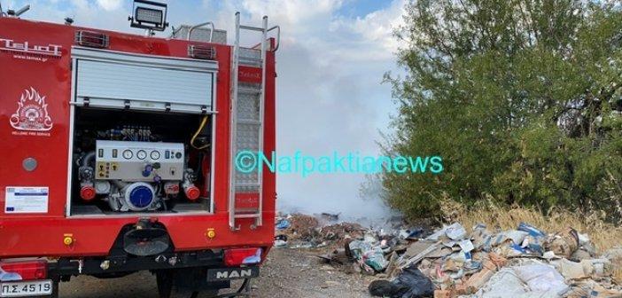 Πυρκαγιά μικρής έκτασης το πρωί στη Γαβρολίμνη Ναυπακτίας (VIDEO)