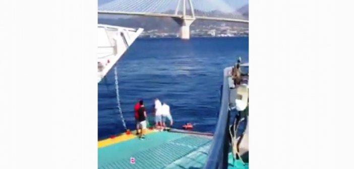 Απίστευτο περιστατικό στο Αντίρριο: Άνδρας παρασύρθηκε από τα ρεύματα και τον έσωσε Φέρι Μποτ! (ΔΕΙΤΕ VIDEO)