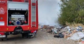 Πυρκαγιά μικρής έκτασης κοντά στην Γέφυρα Μόρνου (VIDEO)