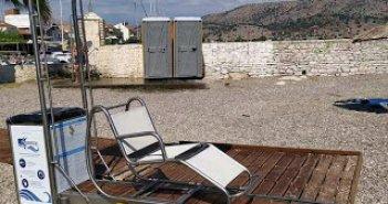Το μηχάνημα seatrac για αυτόνομη πρόσβαση στην θάλασσα για ΑΜΕΑ στον Αστακό