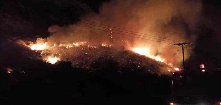 Φωτιά στην Ε.Ο. Ναυπάκτου – Ιτέας (ΔΕΙΤΕ ΦΩΤΟ)