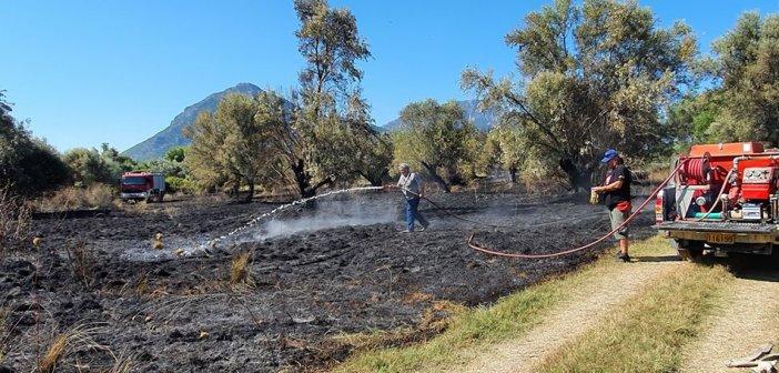 Ξηρόμερο: Υπό έλεγχο η φωτιά στην περιοχή του Βάρνακα (ΔΕΙΤΕ ΦΩΤΟ)