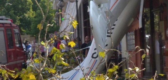 Έπεσε μονοκινητήριο αεροσκάφος μέσα στο χωριό Πρώτη Σερρών! (video)