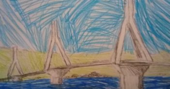 Η γέφυρα Ρίου – Αντιρρίου με τα μάτια 7χρονου Μεσολογγίτη μαθητή