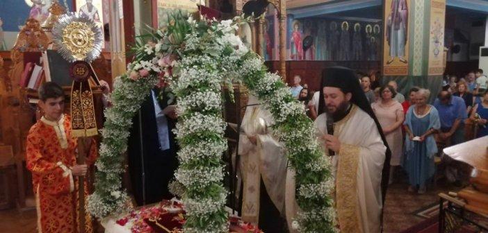 Η Εορτή της Κοιμήσεως της Θεοτόκου στον Ι.Ν. Αγίας Τριάδας Αγρινίου (ΔΕΙΤΕ ΦΩΤΟ)