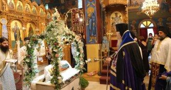 Φωτογραφίες από την Παράκληση και τα Εγκώμια της Θεοτόκου στον Ιερό Ναό Αγίου Νικολάου Αντιρρίου