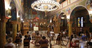Ναυπακτία: Εσπερινός της εορτής Κοιμήσεως της Θεοτόκου στον Ι.Ν. Αγίου Δημητρίου (ΔΕΙΤΕ ΦΩΤΟ)