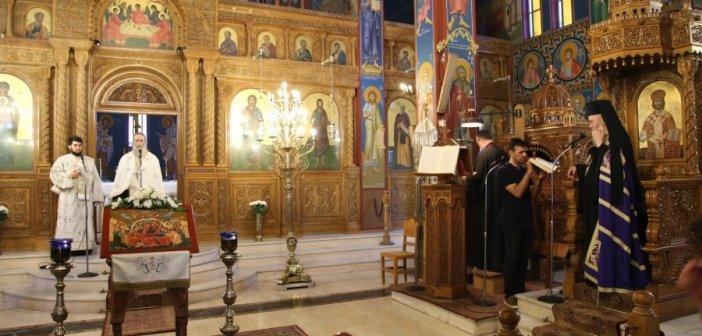 Παράκληση στον Ιερό Ναό του Αγίας Παρασκευής Ναυπάκτου (ΦΩΤΟ)