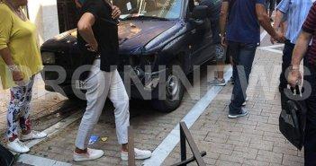 Καβάλα: Δεν τράβηξε χειρόφρενο και έπεσε το αυτοκίνητο πάνω σε τραπεζοκαθίσματα (φωτογραφίες+video)