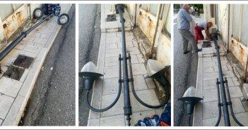 Αμφιλοχία: Αυτοκίνητο γκρέμισε δημοτική κολόνα φωτισμού (ΔΕΙΤΕ ΦΩΤΟ)