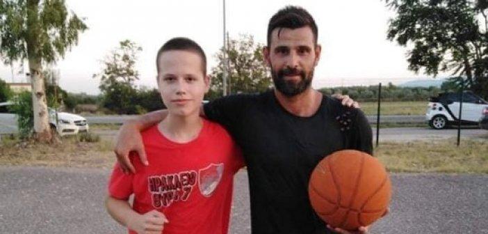 Ο Ολυμπιονίκης Μιχάλης Μουρούτσος στην Κυψέλη Αγρινίου με τον Ανδρέα Γκουρνέλο γιο της ιατρού Άννας Στάππα (ΦΩΤΟ)