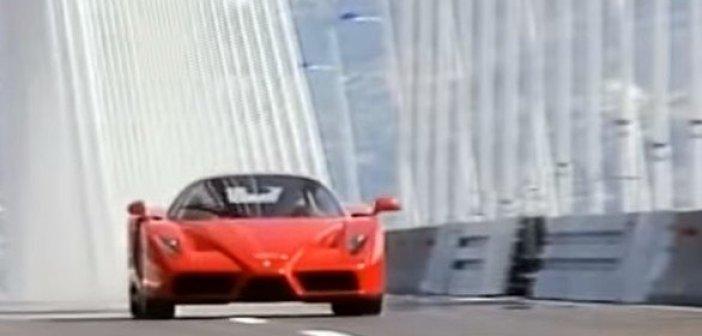 Σα να ήταν χθες… Ο Κώστας Στεφανής διασχίζει τη Γέφυρα Ρίου – Αντίρριου με Ferrari Enzo