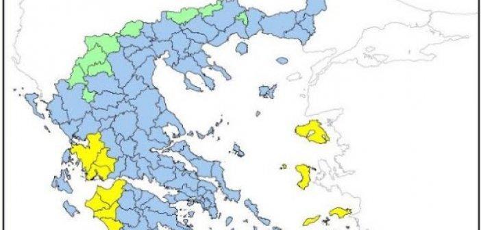Υψηλός ο κίνδυνος πυρκαγιάς αύριο στην Αιτωλοακαρνανία και την υπόλοιπη Δυτική Ελλάδα