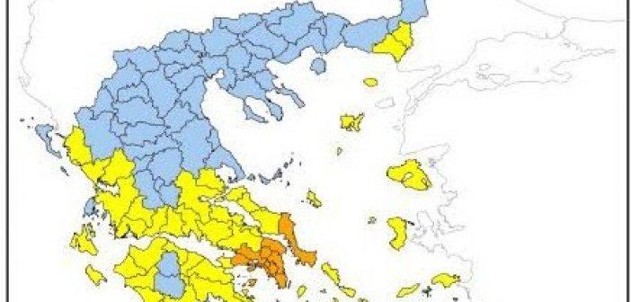 Υψηλός ο κίνδυνος πυρκαγιάς στη Δυτική Ελλάδα και αύριο Δευτέρα