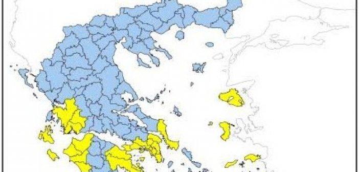 Παραμένει υψηλός ο κίνδυνος πυρκαγιάς στη Δυτική Ελλάδα αύριο Κυριακή