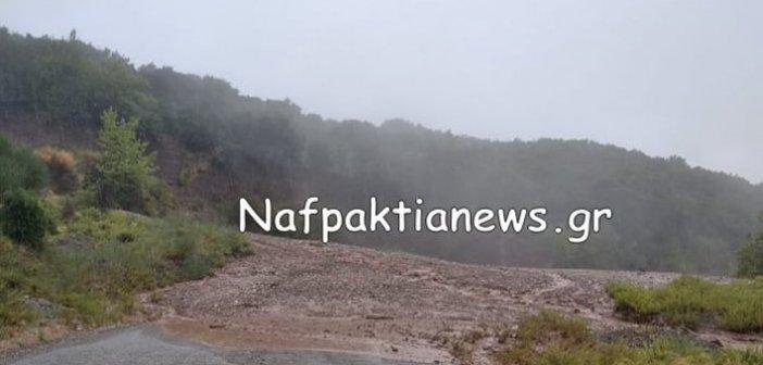 Ναυπακτία: Κατολίσθηση στο δρόμο προς το Ριγάνι