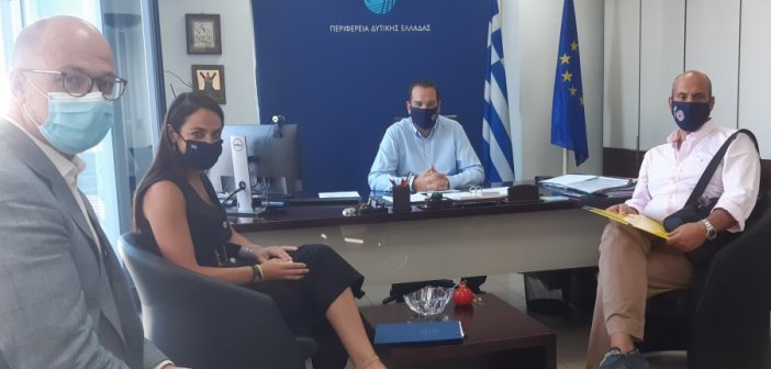 Συνάντηση του Περιφερειάρχη, Νεκτάριου Φαρμάκη με την Υφυπουργό Εργασίας, Δόμνα Μιχαηλίδου