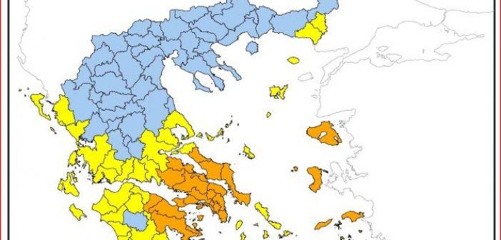 Υψηλός κίνδυνος πυρκαγιάς στην Δυτική Ελλάδα την Πέμπτη