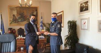 Συνάντηση του Δημάρχου Αγρινίου με τον Διοικητή της Τροχαίας Αγρινίου