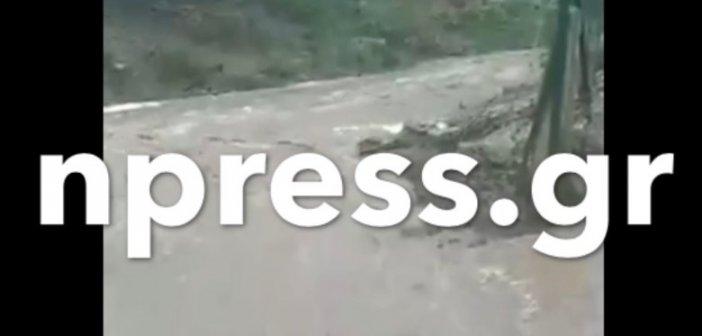 Ορεινή Ναυπακτία: «Έσπασε» ξανά ο Εύηνος – Πλημμυρίζει η Στράνωμα